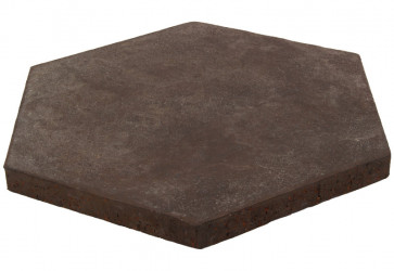 tomette hexagonale noire