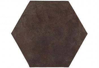 terre cuite hexagonale chocolat