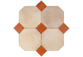 terre cuite octogonale beige