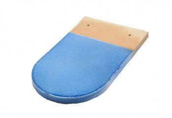 tuile écaille vernissée bleu azur