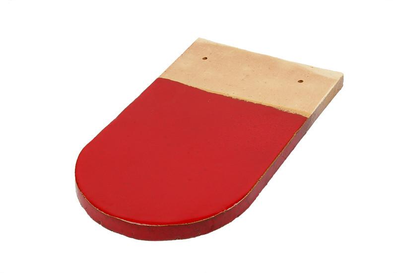 tuile écaille vernissée rouge vermillon