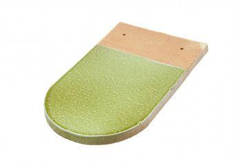 tuile écaille vernissée vert clair