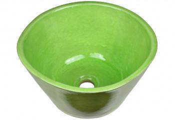 vasque a poser ceramique vert chlorophylle