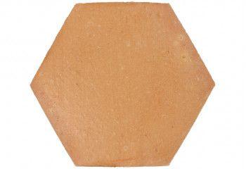 carrelage terre cuite hexagonale claire