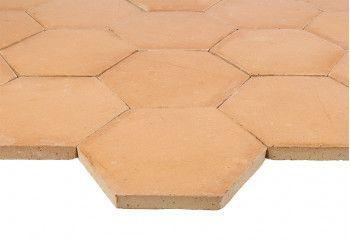 tomette terre cuite hexagonale claire