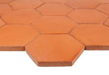 tomette terre cuite hexagonale rouge