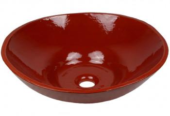 vasque a poser design rouge