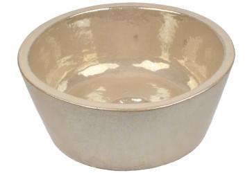 lave mains artisanal blanc nacré