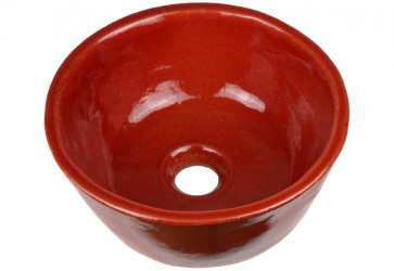 lave-mains céramique rouge