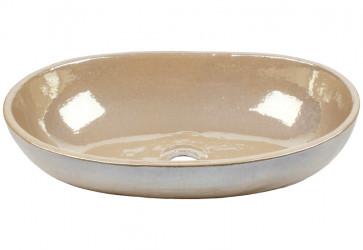 vasque a poser ovale irisée