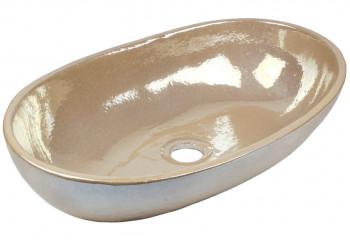 vasque a poser ceramique deco nacre