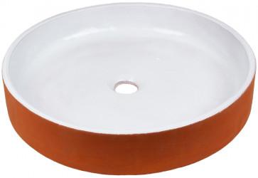 vasque a poser ceramique bicolore