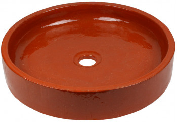 vasque a poser ceramique marron