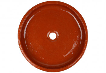 vasque a poser artisanale marron