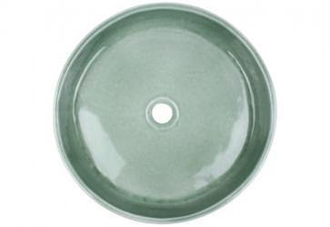 vasque a poser artisanale grise