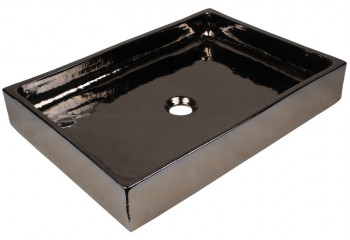vasque artisanale en céramique rectangulaire