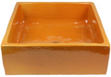 vasque a poser carre orange