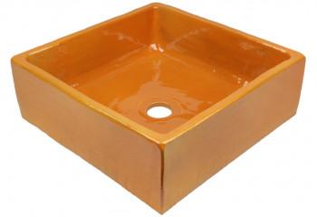 vasque a poser artisanale orange