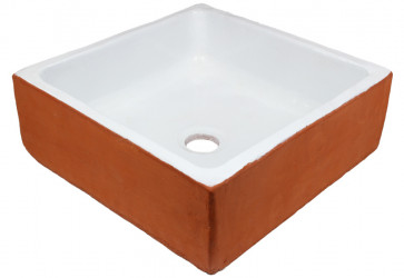 vasque a poser artisanale bicolore