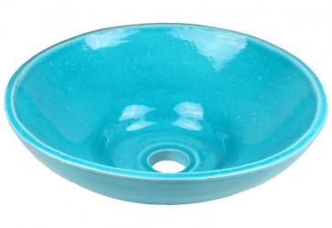 vasque a poser design bleu