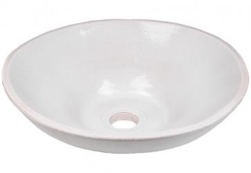 vasque a poser design blanc