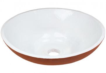 vasque a poser design deux couleurs