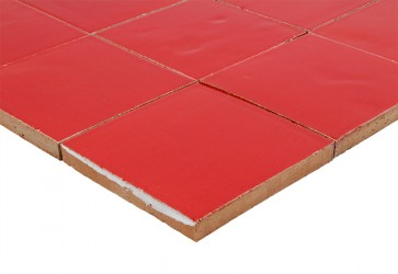 carrelage rouge