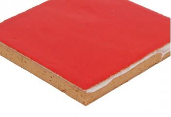 carrelage rouge coquelicot