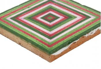 carrelage décoré main vert