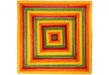 faïence à motif spirale jaune
