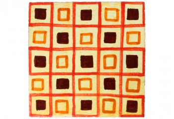carrelage motif rouge orange marron