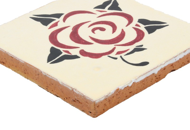 carrelage motif rose