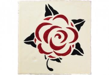faience motif rose