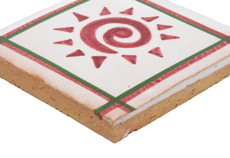 carrelage motif rouge et blanc