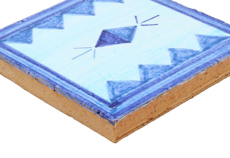 carrelage motif bleu ethnique