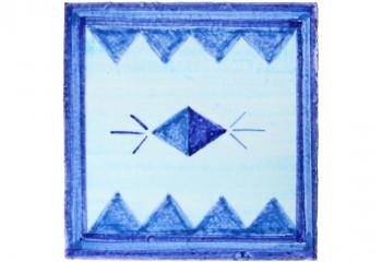 carrelage decor bleu ethnique
