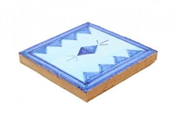 faience decorée bleu