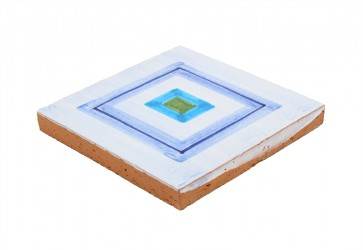 faience decorée bleu blanc