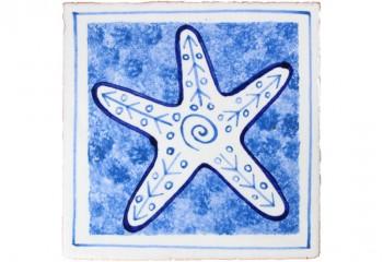 carrelage motif étoile de mer