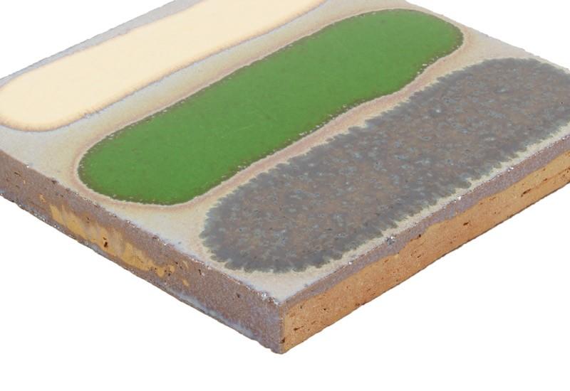 carrelage relief argent vert ivoire noir