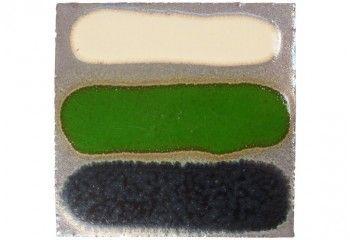 faience argent motif ivoire vert et noir