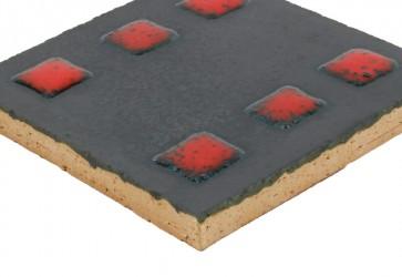 carrelage relief rouge et noir