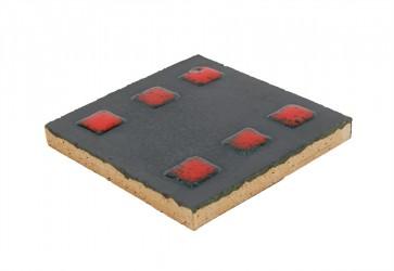 faience motif rouge et noir