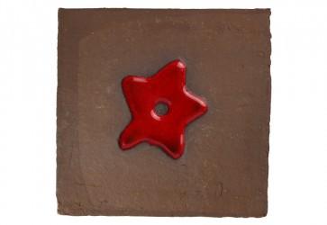 motif carreau marron et rouge