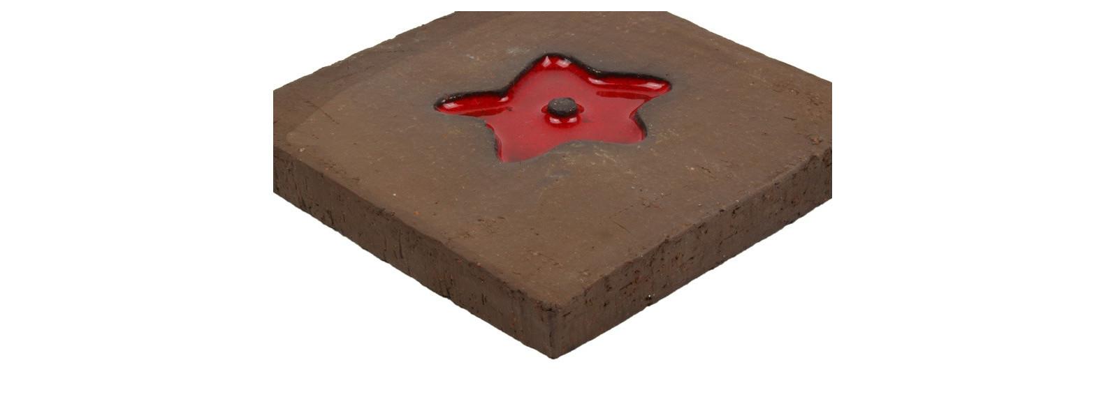 carrelage motif rouge