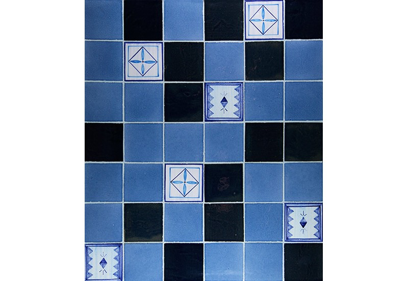 ceramique emaille bleu salle de bain