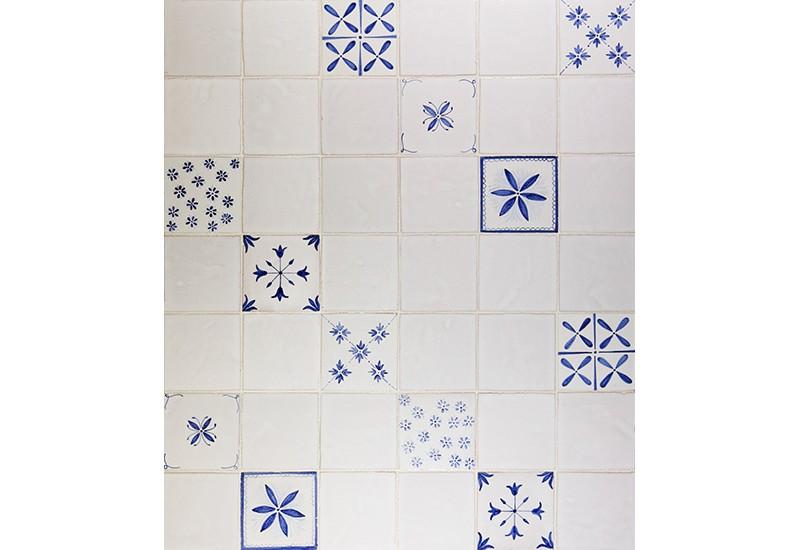carrelage bleu de Delft