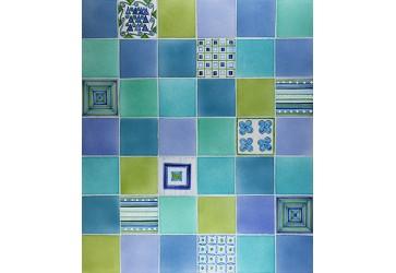 carrelage salle de bain deco bleu