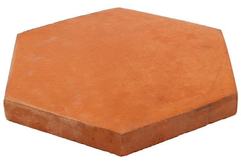 tomette hexagonale rouge