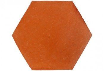 carrelage terre cuite hexagonale rouge